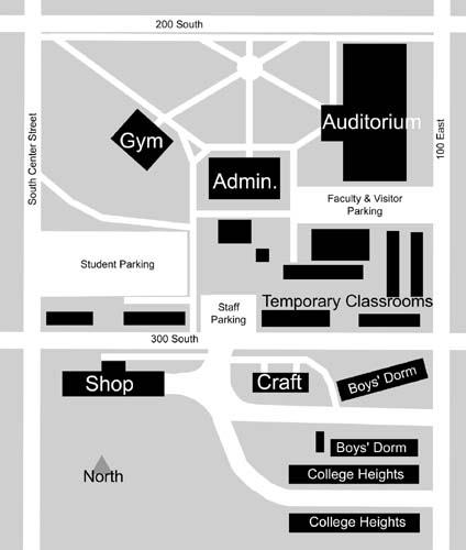 Byu Idaho Campus Map 1950 57: Maps of Ricks College/BYU Idaho
